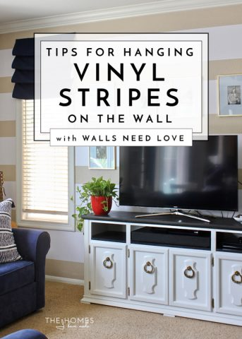 Add pattern and color to your walls in an easy and temporary way with Easy Stripes from Walls Need Love.