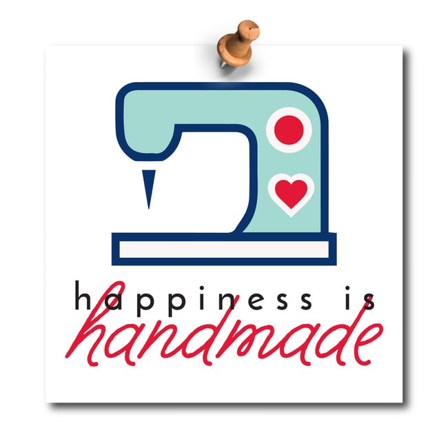 "Inspirational Home Quotes: ""Happiness is Handmade"""