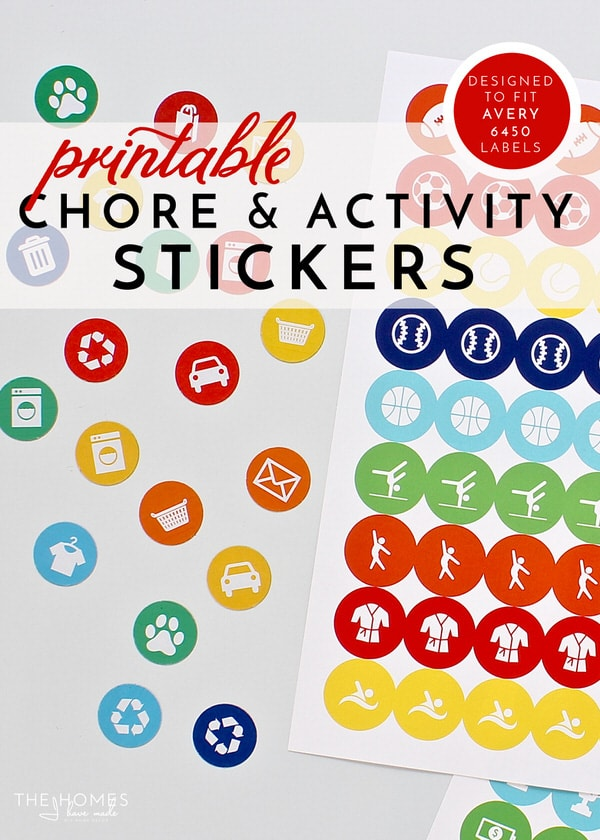 Learn how to print and use the chore, activity and planner stickers from The Homes I Have Made. From stickers to magnets and more, here is exactly how to print them and use them in your home!