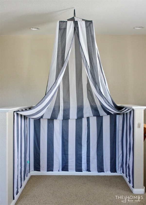Have an awkward bump out and don't know what to do with it? See how easy it is to turn it into a cozy little reading nook for kids!