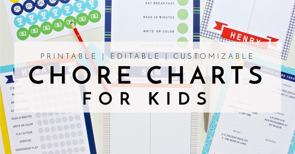 Printable Chore Charts For Kids The Homes I Have Made