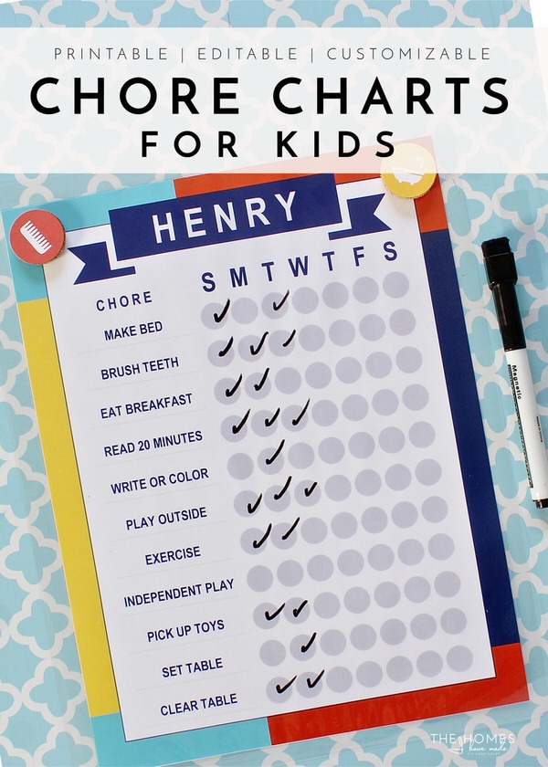photograph about Printable Chore Chart for Kids identified as Printable Chore Charts for Youngsters The Residences I Comprise Designed