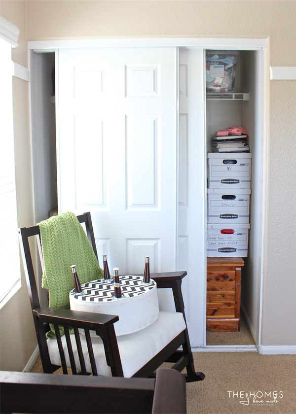 Not Sure How To Fit Everything Into Your Tiny Nursery Closet? Check Out  This Nursery