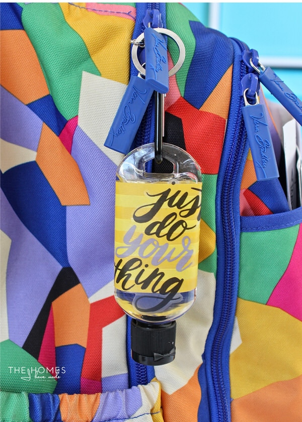 Get back-to-school ready with these fun and oh-so-simple DIY Hand Sanitizer Keychains!