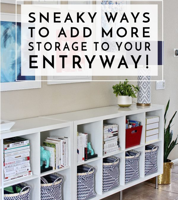 Your foyer might be your family's drop zone, but it doesn't have to look like it. Check out these sneaky ways to add more storage to your entryway.