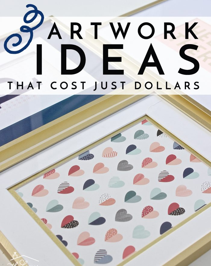 Inexpensive Artwork 3 inexpensive artwork ideas you can make in minutes! | the homes i