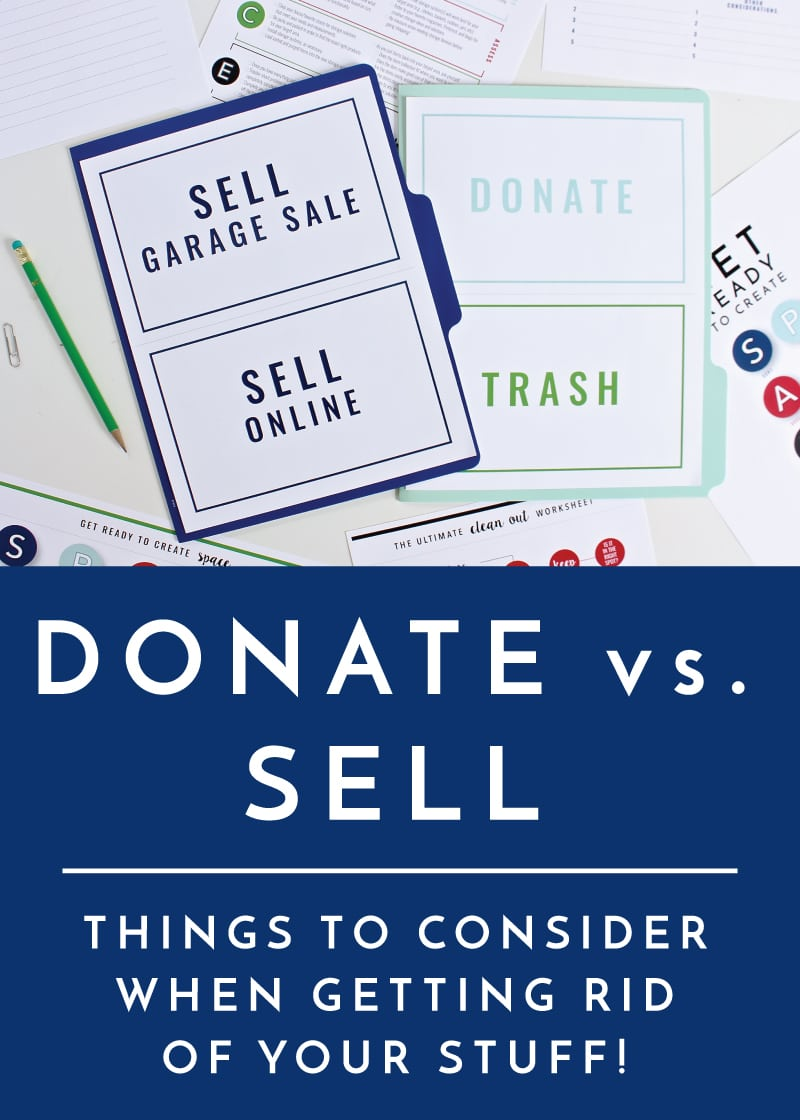 Donate Versus Sell Things To Consider When Getting Rid