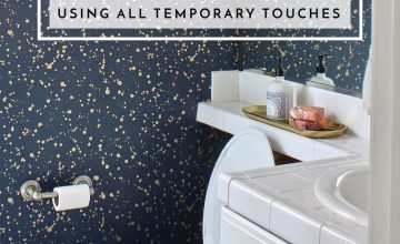 Check out these awesome and budget-friendly ideas for decorating a rental bathroom (using all temporary touches!)