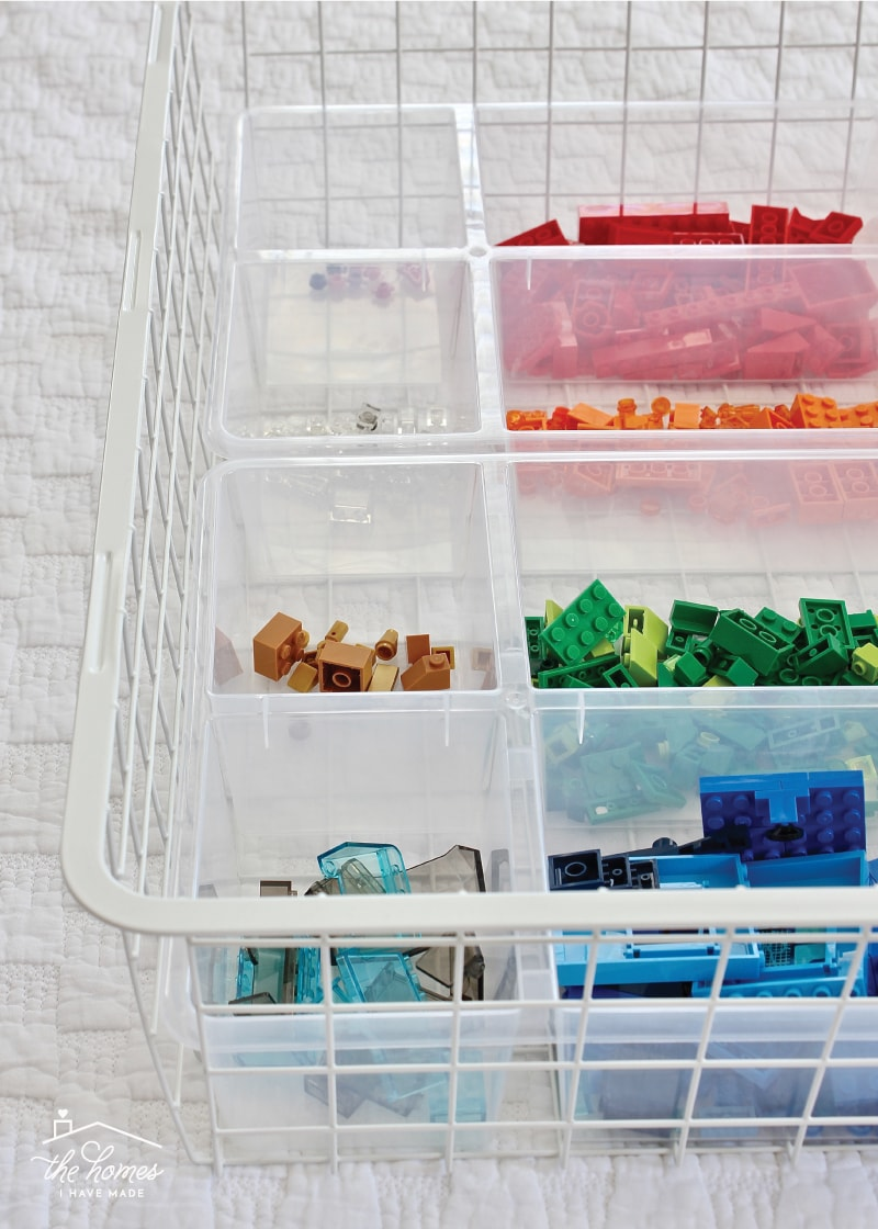 Organizing Legos By Color with the IKEA Antonius System