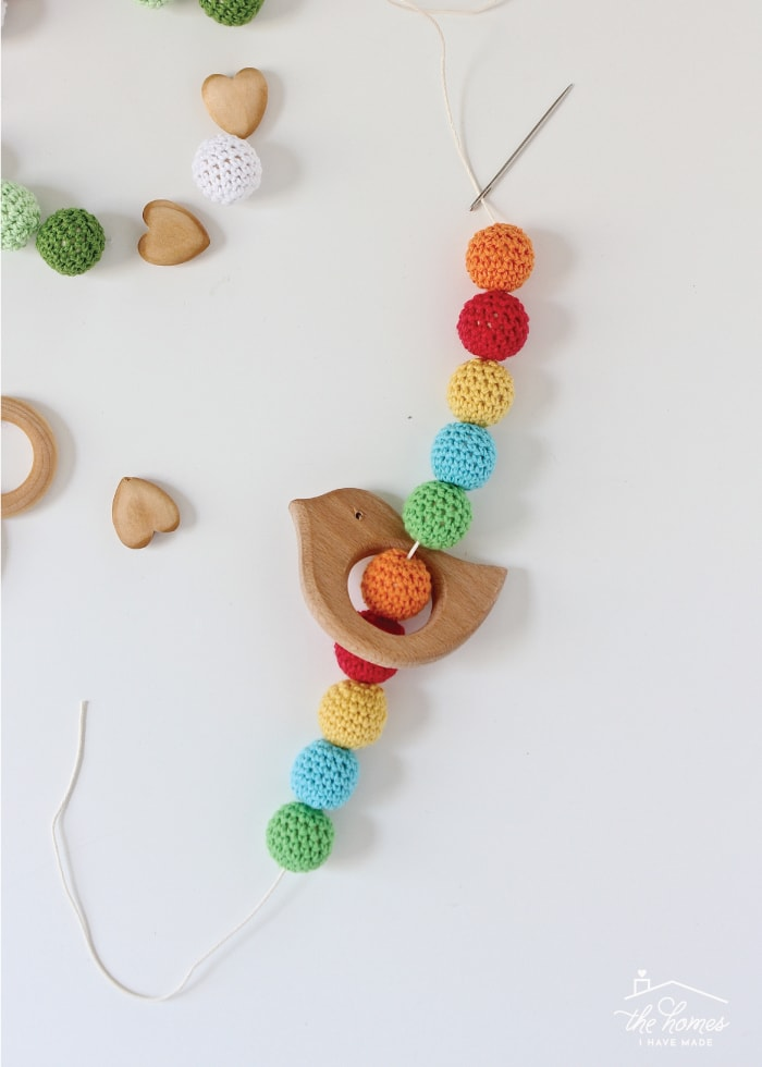 Make your own Wood and Bead Baby Teethers with this easy-to-follow tutorial!