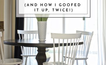 Choosing the right rug for a space isn't easy. Check out my process for selecting a Dining Room Rug and how I goofed it up twice!
