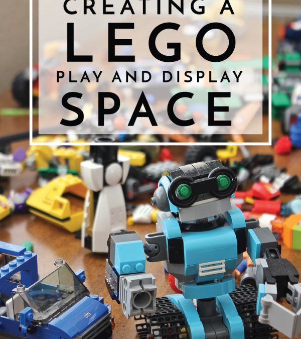 Creating a Lego Play and Display Space | Combine a play surface, storage and display shelves to create the ultimate Lego play space!