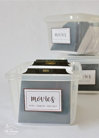 Organize and streamline your DVDs with these simple DVD Storage Boxes