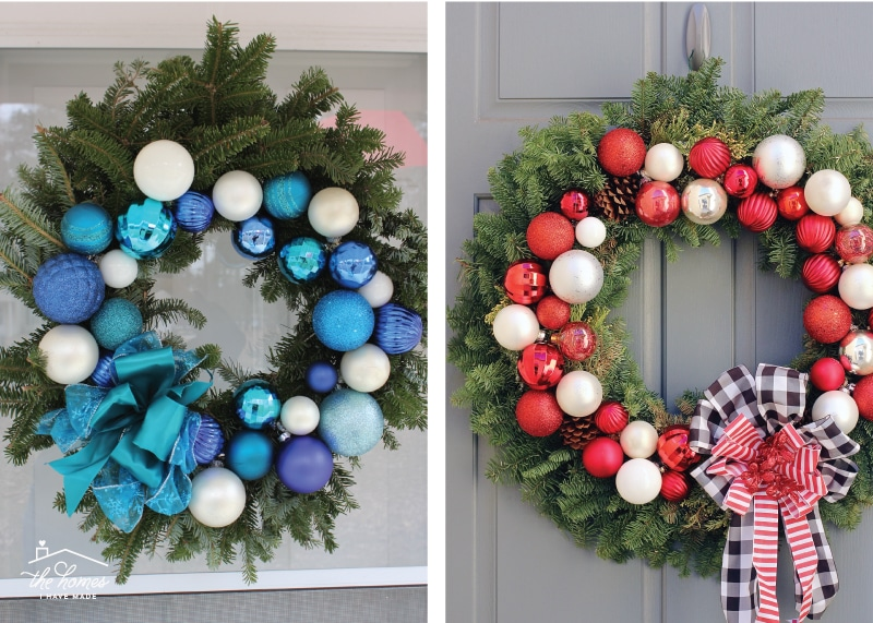 No glue, no hangers. This quick and easy DIY Ornament Wreath is the perfect addition to your holiday decor, and it will only take you an hour!