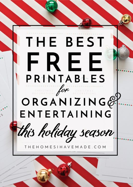 Get ready to have your most productive and organized holiday season yet with these Best Free Printables for Holiday Organizing and Entertaining