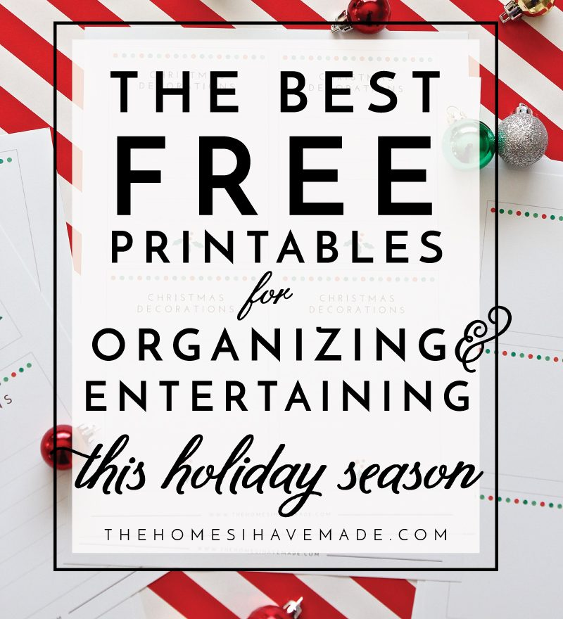 the best free printables for organizing and entertaining this holiday season the homes i have made. Black Bedroom Furniture Sets. Home Design Ideas
