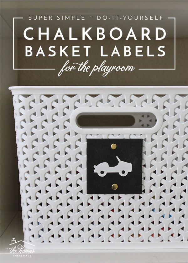 Creating your own DIY Chalkboard Basket Labels for any room in the house couldn't be easier thanks to these simple tags from Michaels! Learn how to dress them up and attach them for great organization!