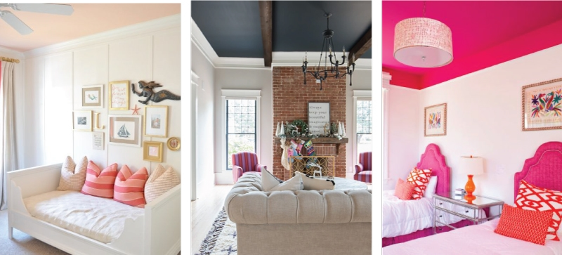 The painted ceiling trend is still going strong. Here are some tips and tricks for getting it right!