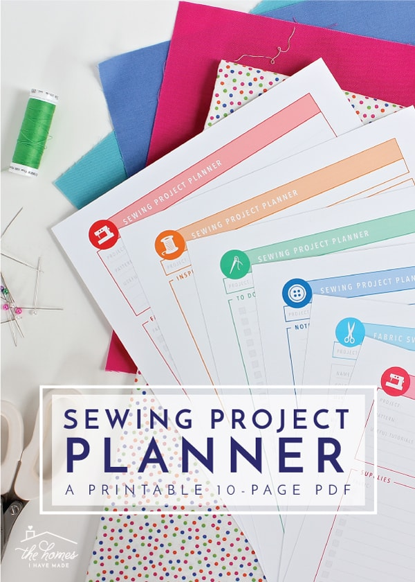 Design, plan, and organize your next sewing project with this 10-page Printable Sewing Project Planner