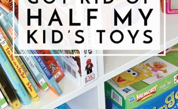 """Tired of the toy chaos and constant cries of """"I'm bored,"""" I decided to get rid of half my kids toys. Find out what happened next!"""