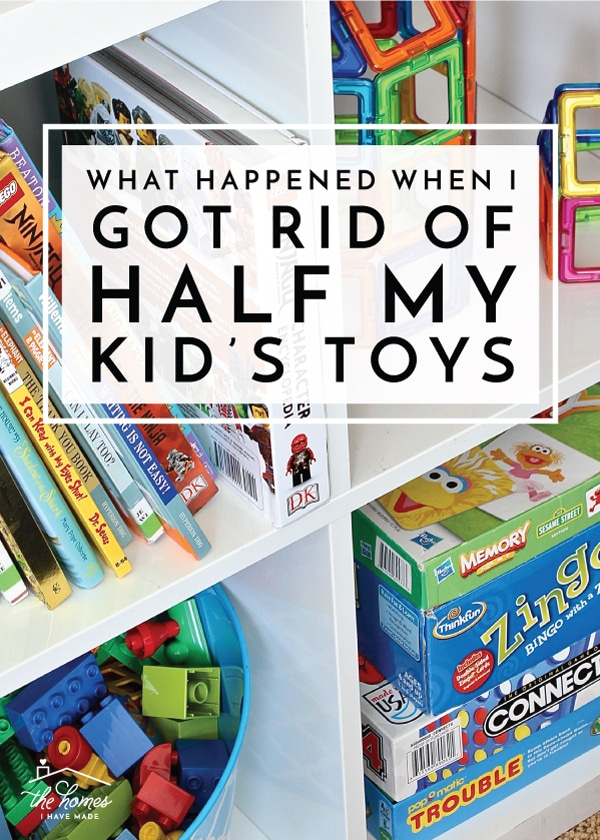 "Tired of the toy chaos and constant cries of ""I'm bored,"" I decided to get rid of half my kids toys. Find out what happened next!"