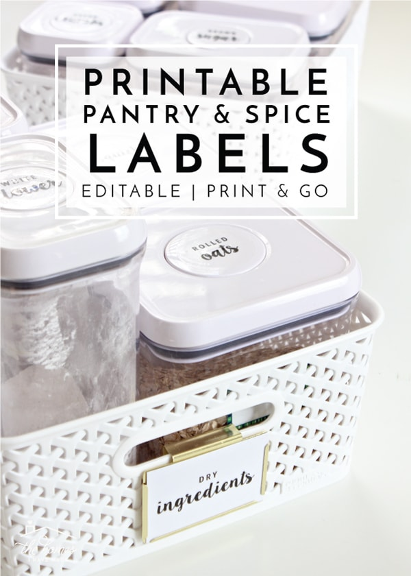 photograph relating to Printable Pantry Labels titled Contemporary towards The Business Toolbox: Editable and Printable