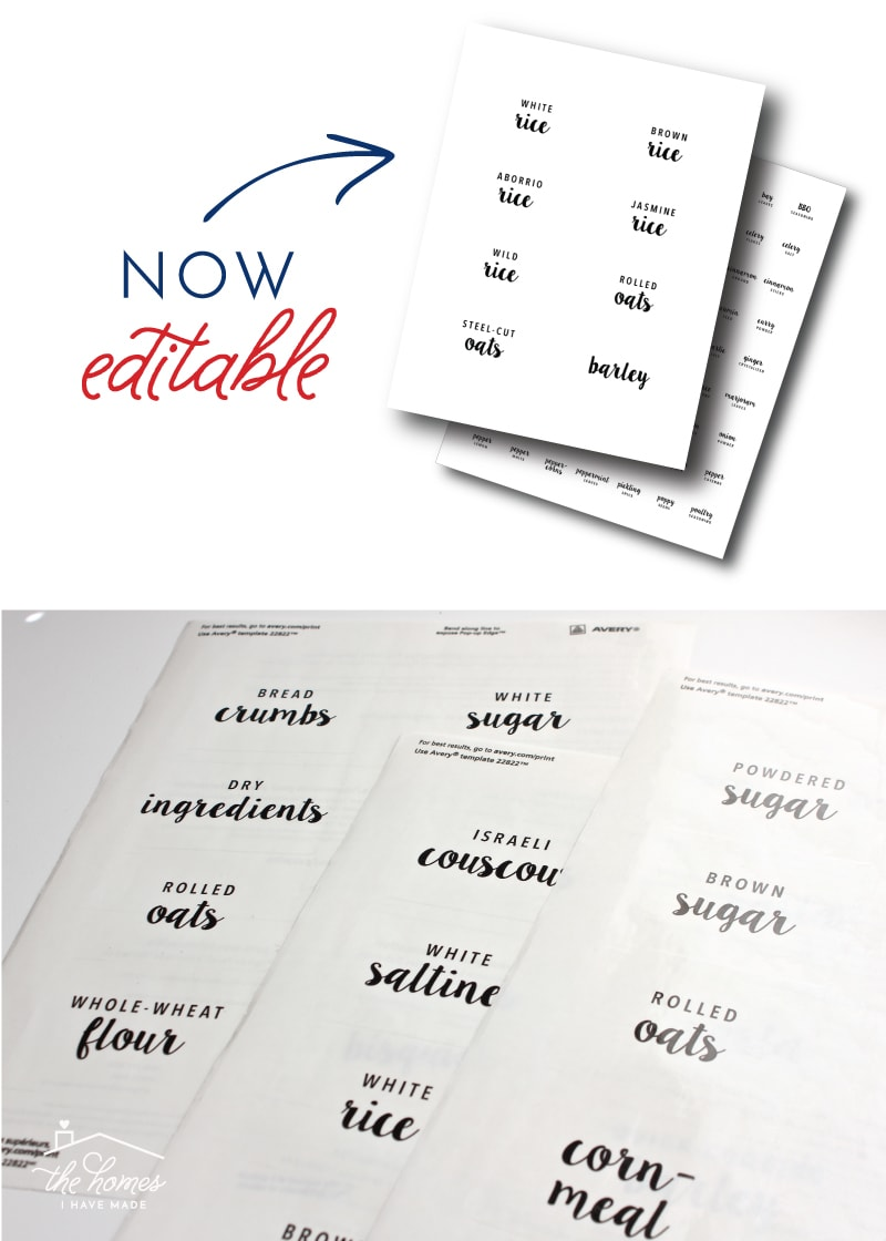 photo about Printable Pantry Labels called Fresh new toward The Small business Toolbox: Editable and Printable