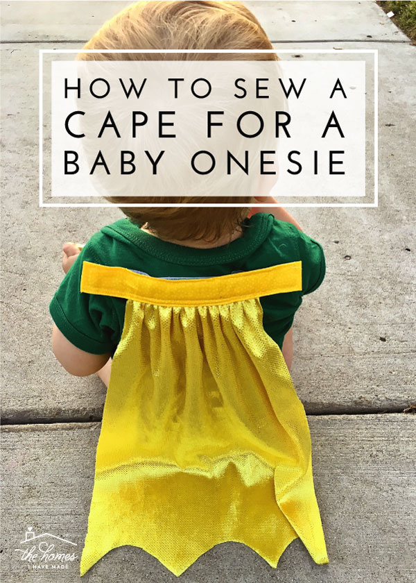 Ready to dress your little one as a superhero? This tutorial will show you how to make a cape for a baby onesie!