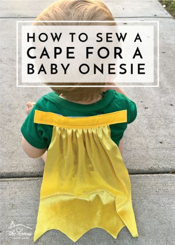 How to Make a Cape for a Baby Onesie