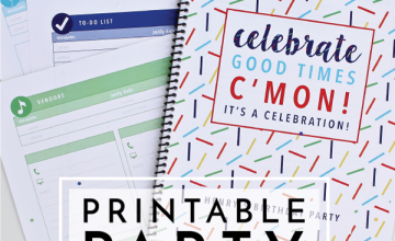 Get organized for your next big party with this 25-page Printable Party Planner filled with smart, pretty and editable printable pages!