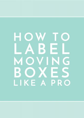 How to Label Moving Boxes Like a Pro