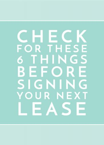 Check For These Things Before Signing Your Next Lease