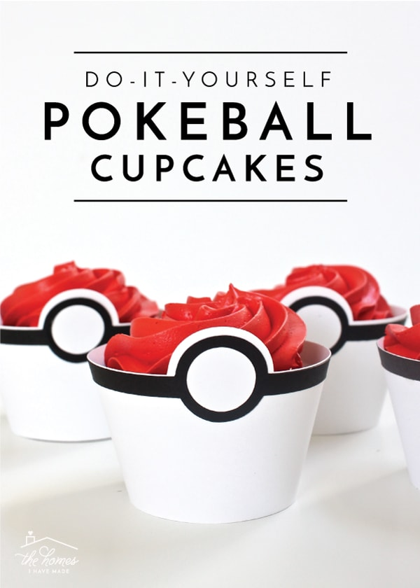 Get ready for any Pokemon-themed party with these adorable and easy DIY Pokeball Cupcakes!