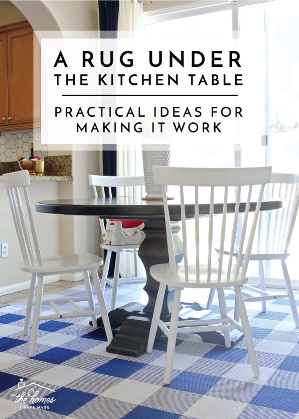 A Rug Under The Kitchen Table Practical Ideas For Making It Work