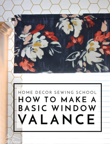 how to make window valance