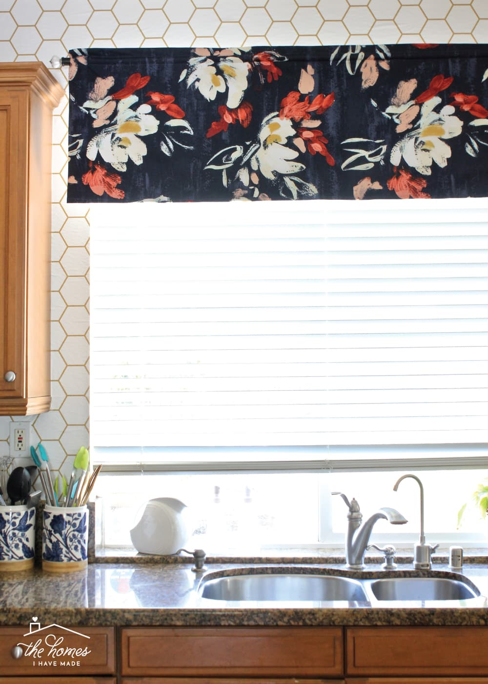Learn how to sew a simple window valance to dress up any window on a budget!