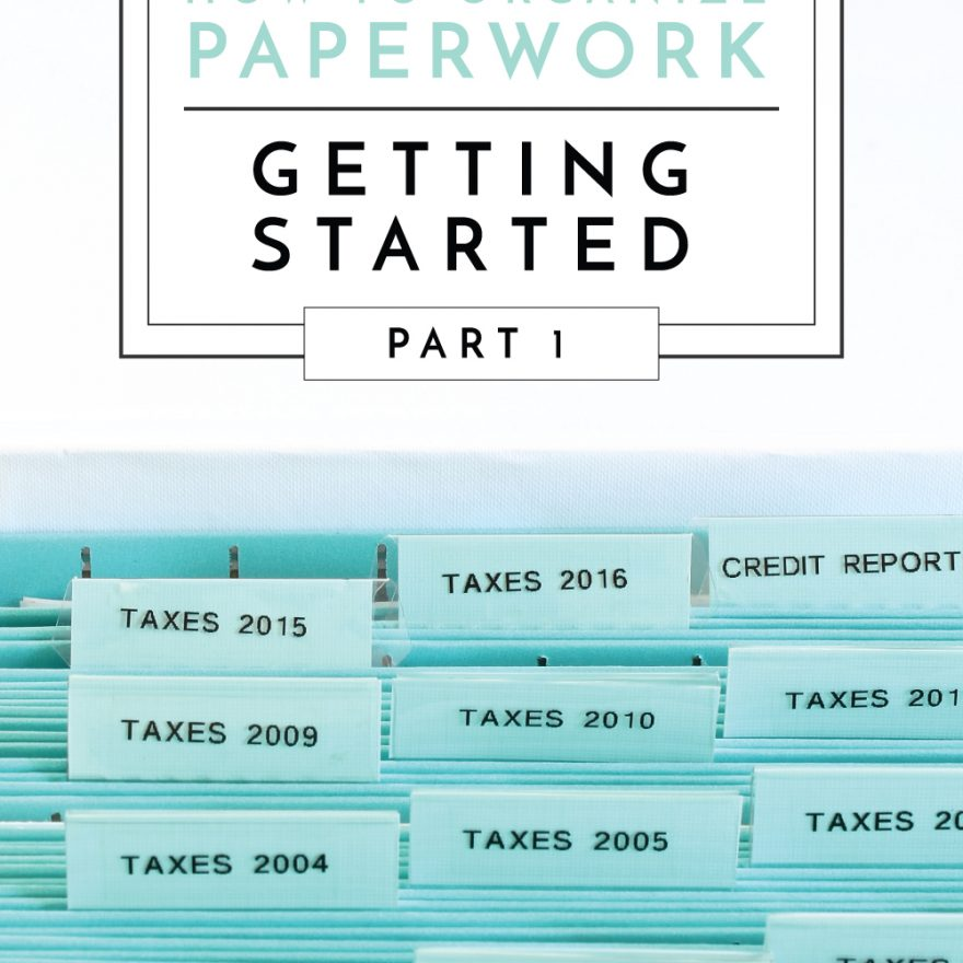 This 8-part series covers everything you need to know about organizing paperwork! In Part 1, we're covering everything you need to know before getting started tackling your paper clutter!
