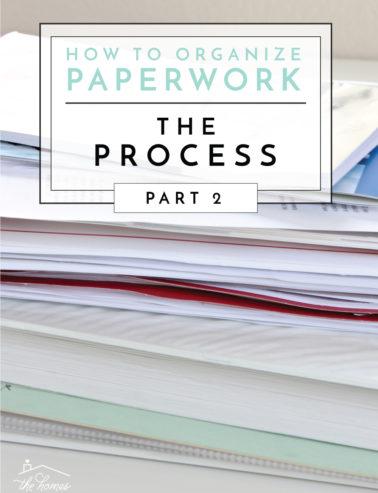 organize paperwork