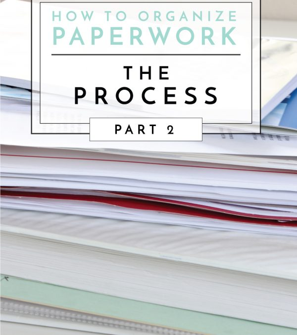 This easy and systematic process will help you sort through and create order of all the paperwork in your home!
