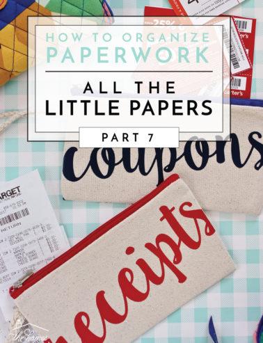 organize paper