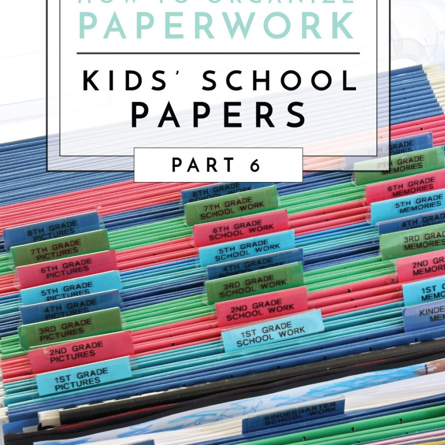 From permission slips to art projects, pictures and memories, get lots of ideas for organizing, sorting and storing kids paperwork!