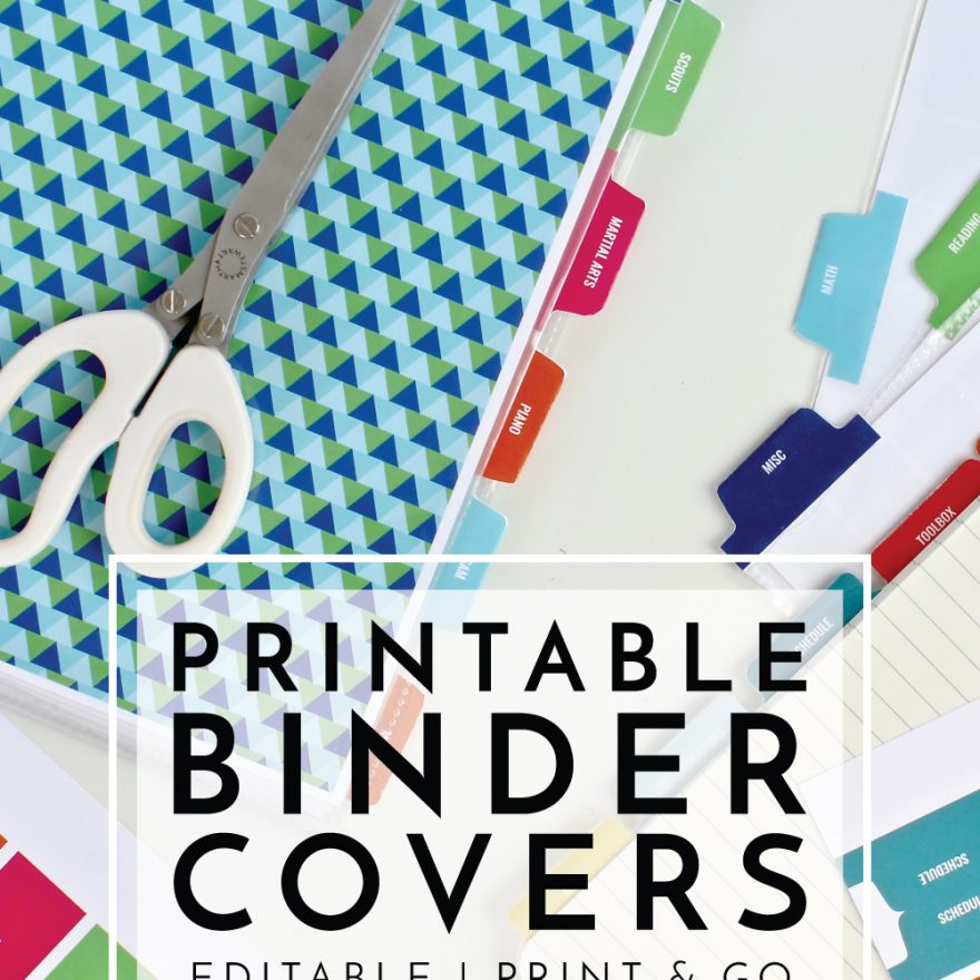 new to the organization toolbox printable binder covers and tabs