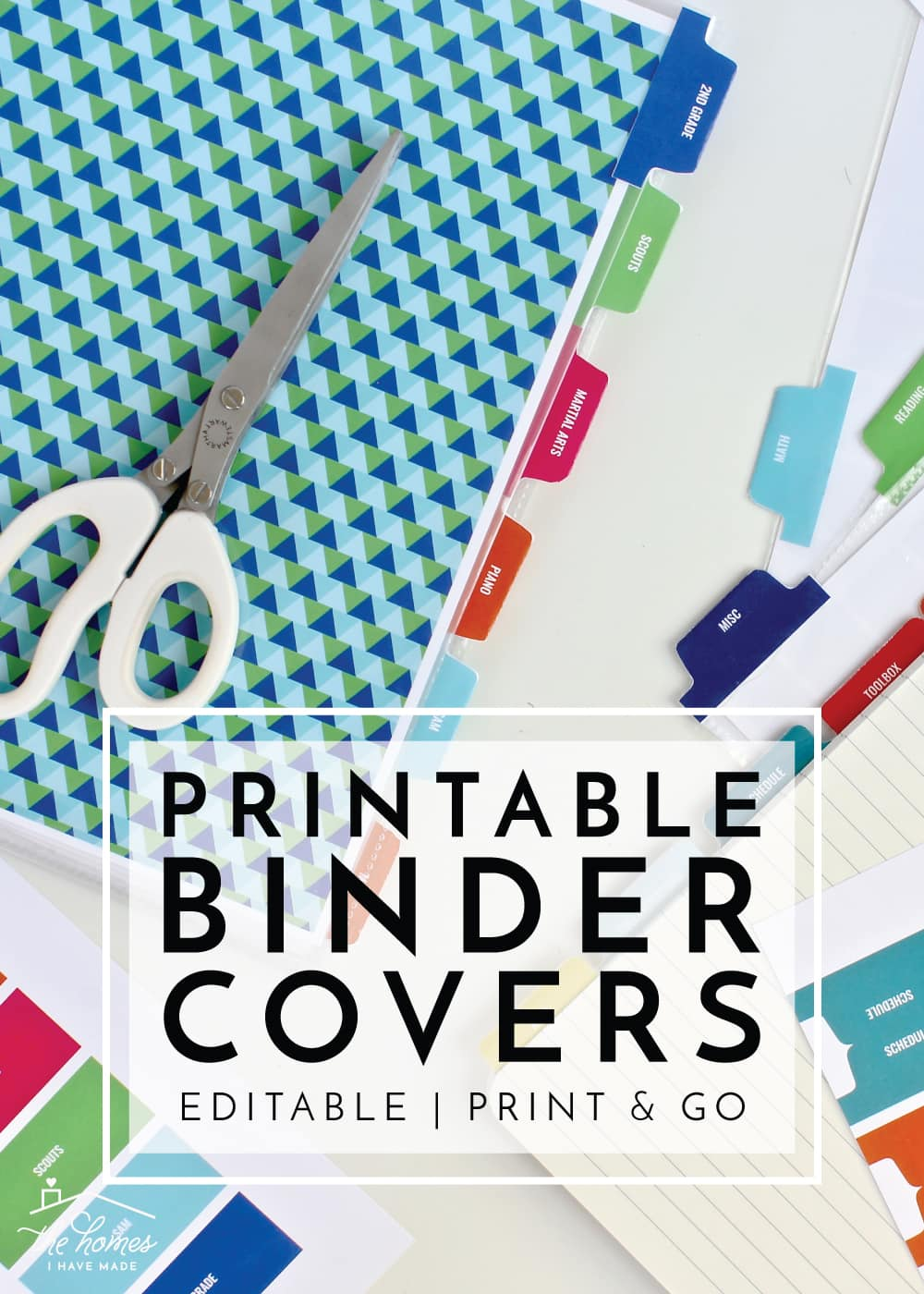 New to The Organization Toolbox: Printable Binder Covers and Tabs ...