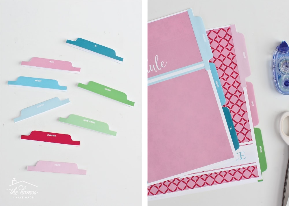 Customize your binders and back-to-school supplies with Printable Binder Covers, Dividers, and Tabs!