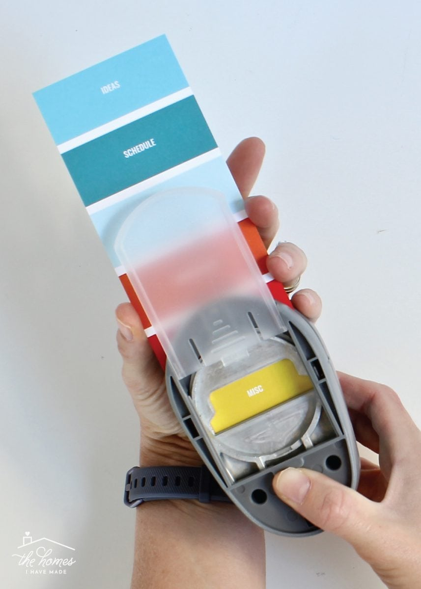This tab punch is one of the best supplies for making labels!