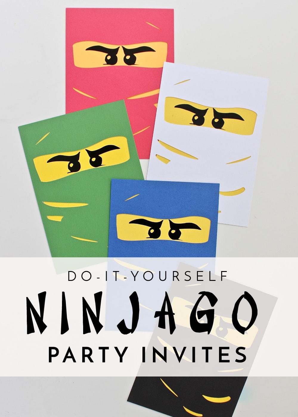 diy ninjago party invitations the homes i have made