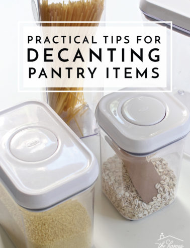 decanting pantry items