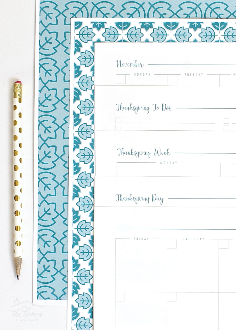 New to The Organization Toolbox: Printable Thanksgiving Planner ...