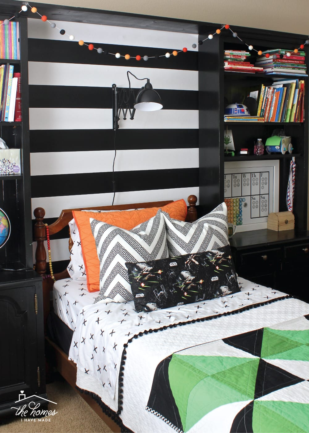 With simple touches and inexpensive DIY projects. this Star Wars Bedroom is perfect for the ultimate Star Wars fan!