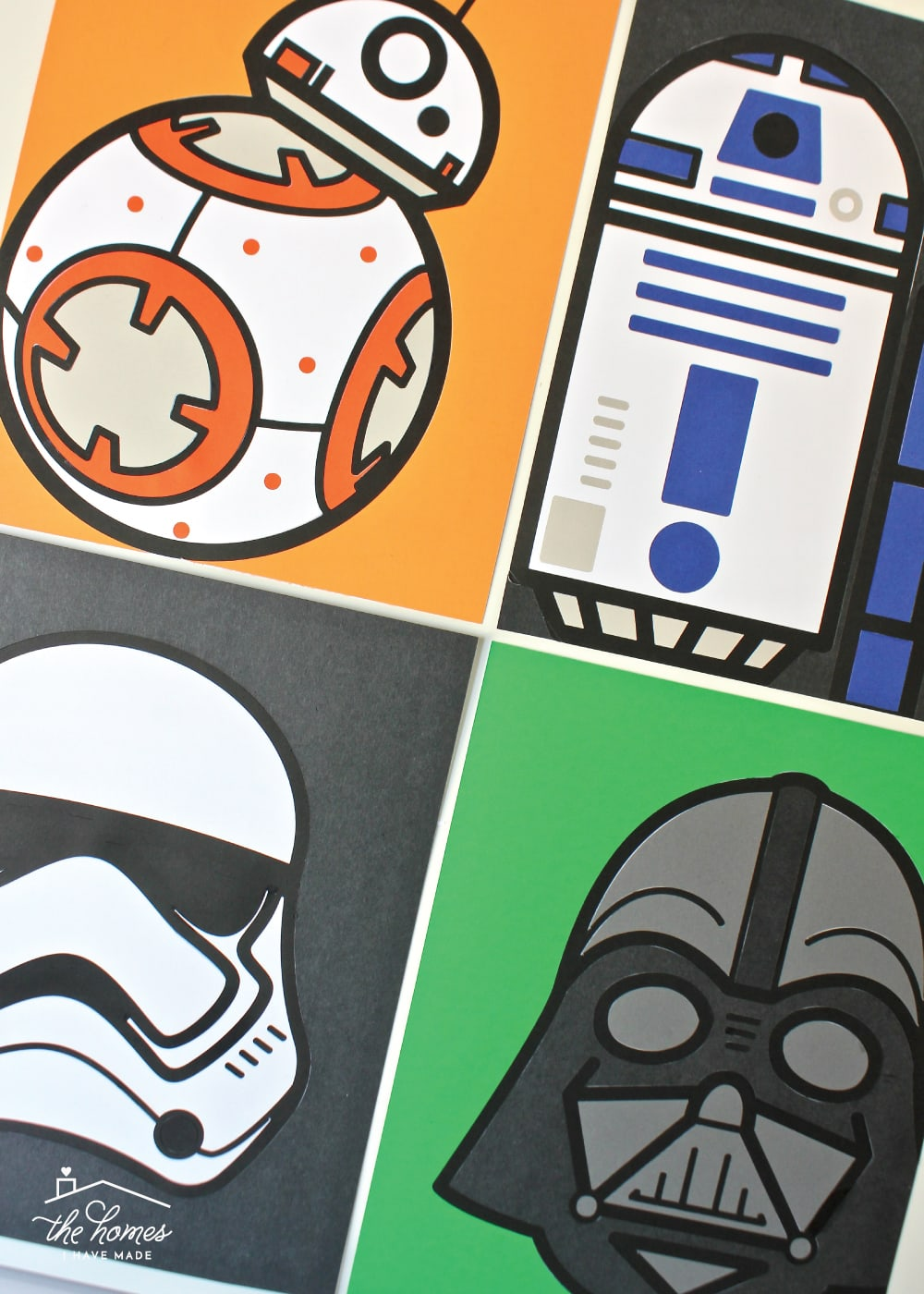 Learn how to make this DIY Star Wars Art with a Cricut Explore and cardstock!